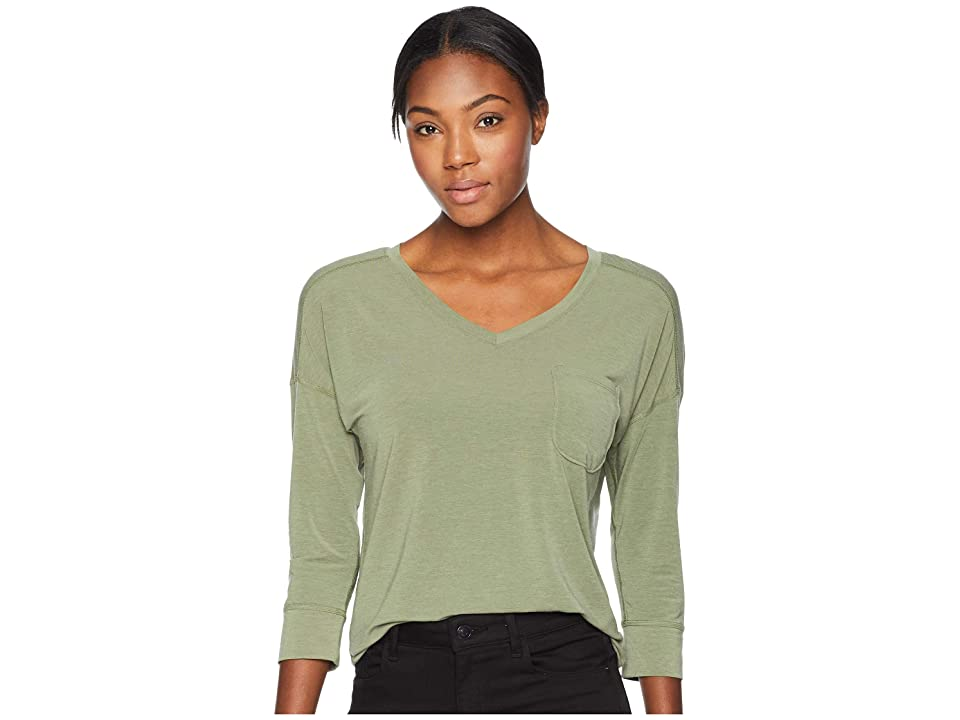 The North Face In-A-Flash 3/4 Sleeve Top (Four Leaf Clover Heather) Women