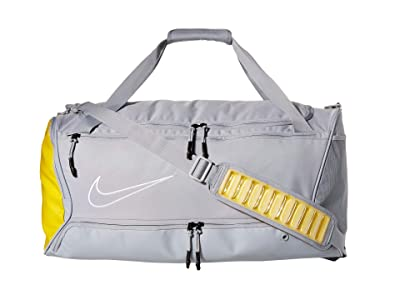 Nike Hoops Elite Duffel (Wolf Grey/Speed Yellow/White) Duffel Bags