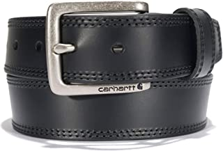 Carhartt Men's Double Row Stitching Snap Fasteners Dull Nickel Buckle