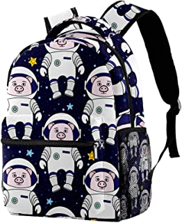 حقيبة ظهر خفيفة الوزن حقيبة مدرسية للكلية حقيبة كمبيوتر محمول Daypack للبالغين والأطفال مساحة حقيبة ظهر عادية