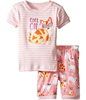 Hatley Kids - Cool Cats Short Pajama Set (Toddler/Little Kids/Big Kids)