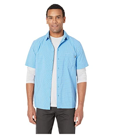 Helly Hansen Fjord QD Short Sleeve Shirt (Cornflower Check) Men