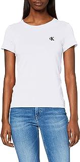 Calvin Klein Jeans Vrouwen Ck borduurwerk slank Tee Shirt