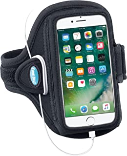 Tune Belt Armband for iPhone 8 7 6s 6 (NOT Plus) - for Running & Working Out - Sweat-Resistant [Black]