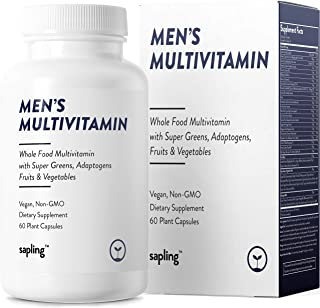 Multivitamin for Men Daily Supplement - with Whole Food Vitamins, Plant-Based, Organic Fruits and Vegetables. Vitamin A, B...
