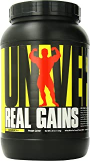 Real Gains Weight Gainer with Complex Carbs and Whey-Micellar Casein Protein Matrix Banana 3.8#