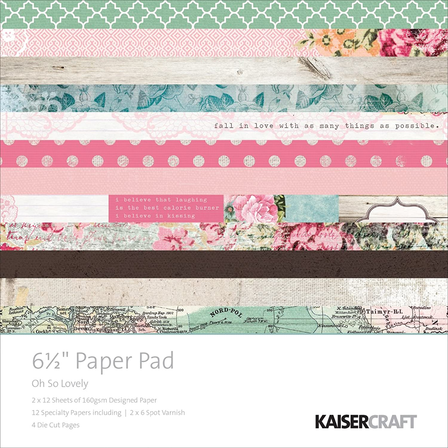Kaiser Craft Oh So Lovely Papier Pad B00RGFWIZ2 | | | Up-to-date Styling  e3e4d9