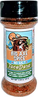 Big Axe Spice TacoDora - MILD Salt Free TACO Seasoning - SALT FREE, Potassium Free, Gluten Free, Sugar Free, Preservative ...