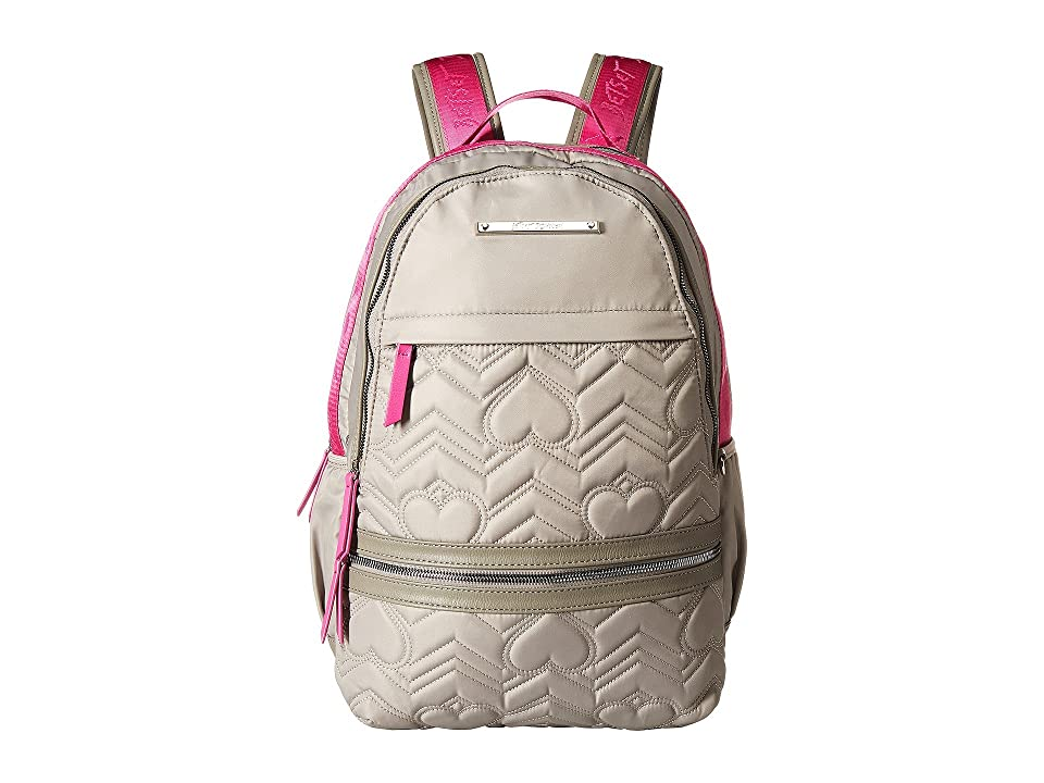 Betsey Johnson Sporty Backpack (Grey Multi) Backpack Bags