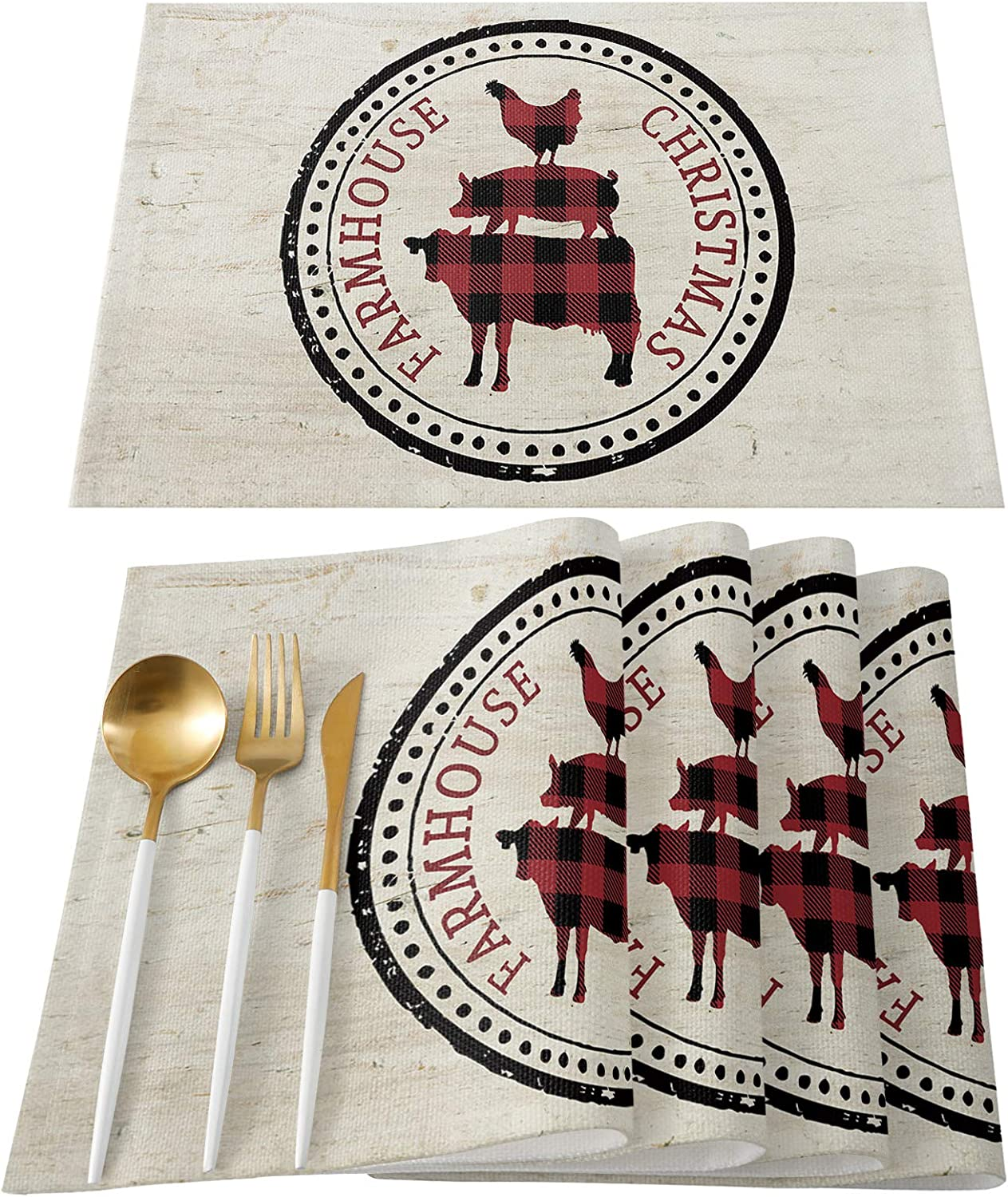FAMILYDECOR National uniform free shipping Placemats for Kitchen Dining Table of 6 Set Place M Rare
