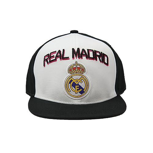cf323f11db6 Real Madrid Fc Club Snapback Adjustable CAP Hat – White-black NEW Season