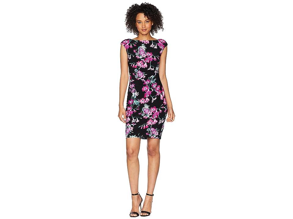 CHAPS Floral Jersey Dress (Palatte Orchid) Women