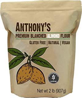 Anthony's Almond Flour Blanched, 2lb, Batch Tested Gluten Free, Non GMO, Vegan, Keto Friendly