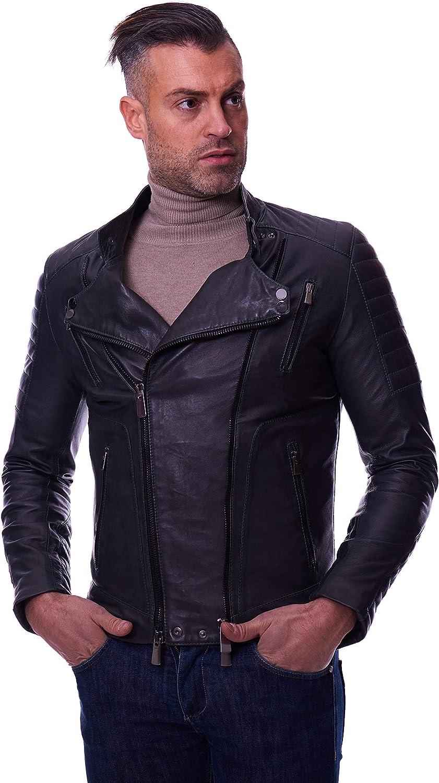 Green nappa lamb leather perfecto jacket left and right zipper closure