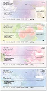 Watercolor Flowers Top Tear Value Priced Personal Checks (1 Box of Duplicates, Qty. 100)