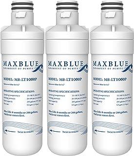 Maxblue MDJ64844601 Refrigerator Water Filter, Replacement for LG LT1000P, LT1000PC, LT1000PCS, LFXC24796S, LSFXC2496D, LFXS28566S, ADQ74793501, ADQ74793502, Kenmore 46-9980, 9980 (Pack of 3)