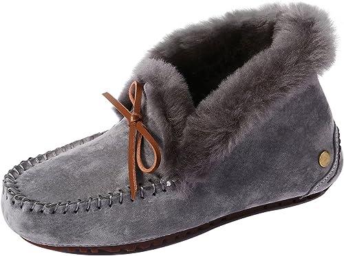 SimpleC Hiver Suède Pantoufles Chaussons Femme avec Doubleure Intérieure Douce Shearling, Confortables et Chauds