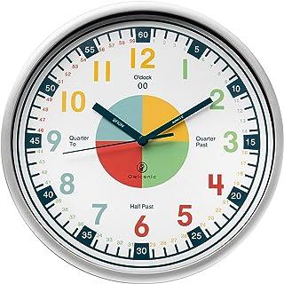 Owlconic Telling Time Teaching Clock - Kids Room,...