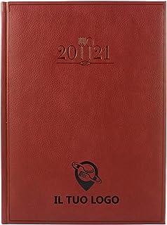 Agenda ristorante 2021 doppia pagina personalizzato. 768 pagine. Copertina rigida similpelle, Libro Prenotazioni Ristorant...