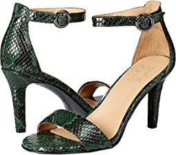 Forest Green Snake Print Leather