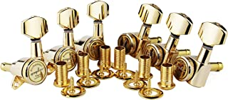 Guyker Guitar Locking Tuners (6 for Left) - 1:18 Lock String Tuning Key Pegs Machine Head with Hexagonal Handle Replacemen...