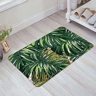 Libaoge Tropical Palm Leaves Doormat Welcome Mat Entrance Mat Indoor Door Mats Floor Mat Bath Mat