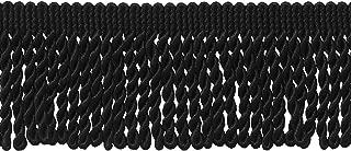 DÉCOPRO 10 Yard Value Pack|2.5 Inch Bullion Fringe Trim|Style# EF25 Color: K9 - Black|9.5 Meters / 30 Ft