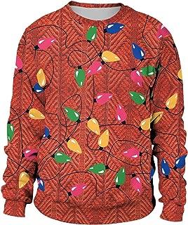 Unisex Men Women Ugly Christmas Sweatshirt Xmas Santa 3D Printing Hoodie & Crew Neck Sweatshirt