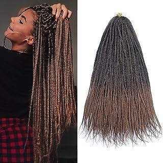YUNSI Passion twist hår 6-pack 46 cm bohemiska flätor för vattenvåg virkning fläta hår syntetfiber naturlig tvinnad flätni...