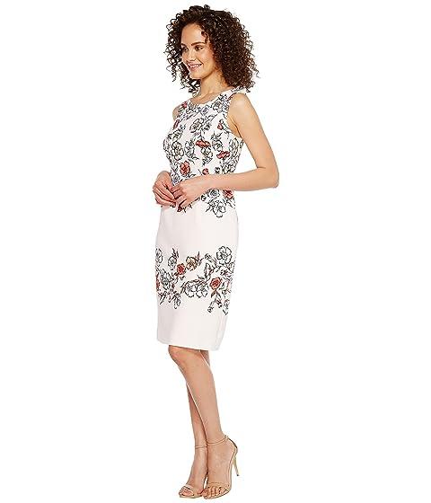 Floral Sleeveless Print Scuba Ivanka Crepe Trump qY5FxF0a
