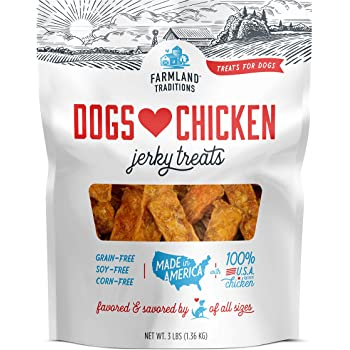Farmland Traditions Dogs Love Chicken Premium Jerky Treats for Dogs, 3 lb. Bag
