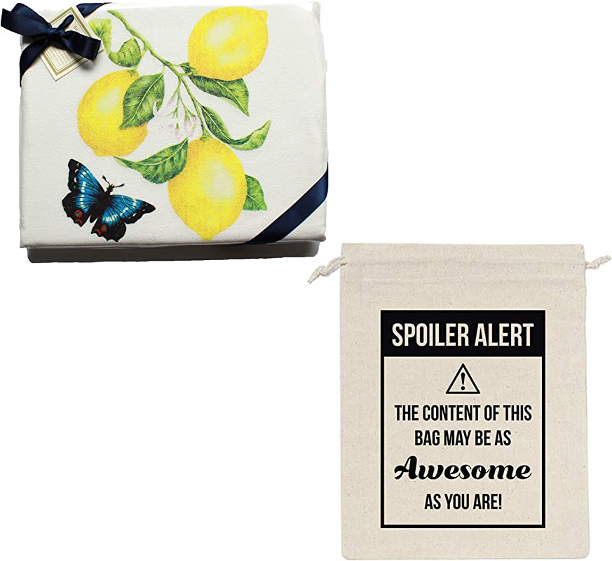 Agyukoo Lemon Print Kitchen Towels Flour Sack Set Of 2 Lemons Themed Kitchen Decor And Accessories Ready For Giving