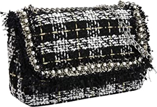 Crossbody Bags for Women PU Leather Shoulder Bag Tweed Crossbody Bag Crossbody Bags Handbags - Classic Collection