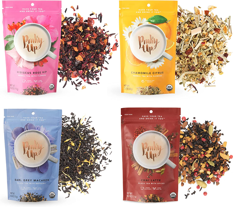 Be super welcome Pinky Up Greatest Hits Sampler Tea Set Loose Reservation Leaf