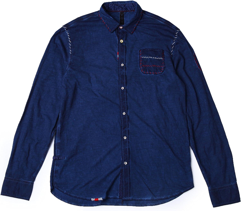 VOIZ Shirt For Men With Fashion Details  Navy S
