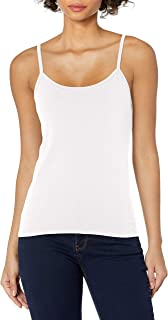 Hanes Womens O9342 Stretch Cotton Cami with Built-in Shelf Bra Sleeveless Cami Shirt