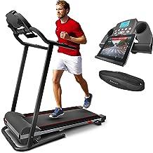 Sportstech F10 Cinta de Correr Plegable, Smartphone App Control; Sistema de Lubricación; Inclinación 18°; Pulsómetro de Pecho Incluido, Bluetooth, 1CV, 10Km/h. con 13 programas y Kinomap