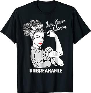 Lung Cancer Warrior Unbreakable T-Shirt Awareness Gift Shirt