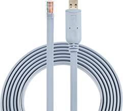 Cisco Console Cable USB to RJ45 - 1.8M (6 ft) FTDI Chip Replaces USB to DB9 + 72-3383-01 compatible with Windows 8, 7, Vista, MAC, Linux RS232