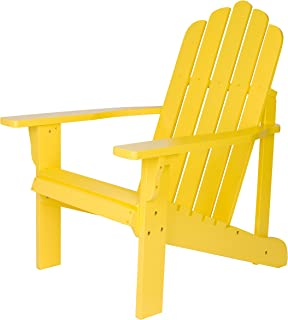 Shine Company Inc. 4618LY Marina Adirondack Chair, Lemon Yellow