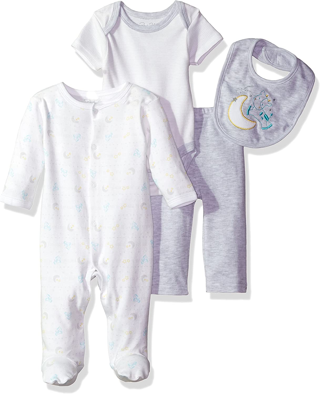 Rene Rofe Baby Girls and Baby Boys 4-Piece Layette Bodysuit Set