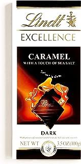 Lindt EXCELLENCE Dark Chocolate Bar with Caramel & Sea Salt 3.5 oz each (4 Items Per Order)
