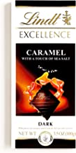 Lindt EXCELLENCE Dark Chocolate Bar with Caramel & Sea Salt 3.5 oz each (4 Items Per Order)