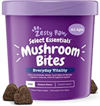Zesty Paws Organic Mushroom Chewable Treats for Dogs - for Dog Hip & Joint Health + Digestive & Immune Support - 14 Mushrooms Complex with Shiitake, Lion's Mane & Turkey Tail + Vitamins & Minerals