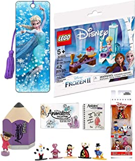 Little Magic Snow & Frozen 2 Pack Elsa's Winter Throne 30553 Princess Pack Bundled with 3D Bookmark & Animation Mini Art Figure Littles & 5 Metal Character Collection 4-Items