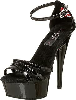 Pleaser Women's Delight-662 Ankle-Strap Sandal