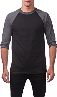 Men's 3/4 Sleeve Crew Neck Baseball Shirt