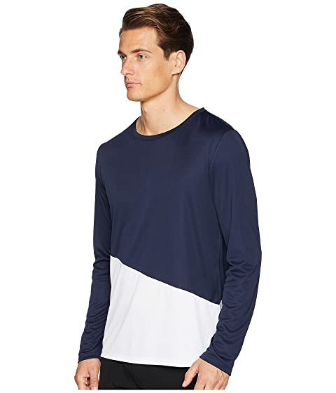 Wide Range Of Cheap Online Free Shipping Find Great onia Color Block Long Sleeve Swim Tee Deep Navy/White Discount Manchester Great Sale From UK Free Shipping bZiGrM6