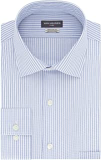 Men's Regular Fit Flex Collar Stripe Dress Shirt