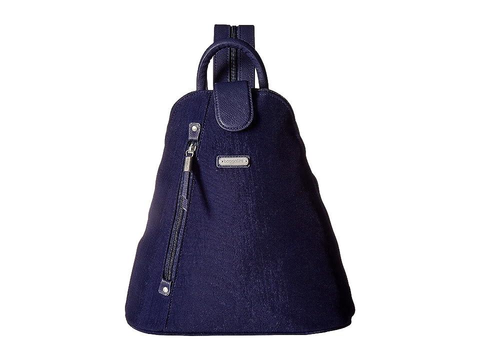 Baggallini Metro Backpack with RFID Phone Wristlet (Navy) Backpack Bags
